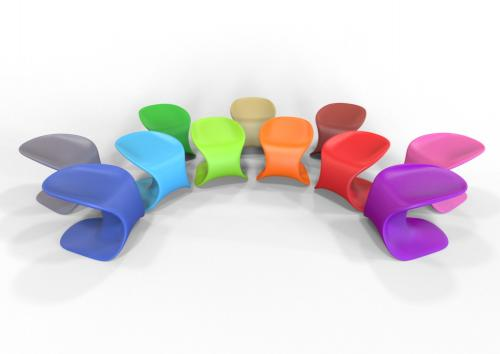 recycled plastic firm bionic ocean TenJam waterproof outdoor k12 furniture duraflex seating kids