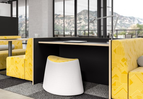 EKO h@kr seating, collaborate, stool, modular, open office space, higher education, business, upholstered