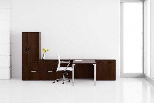 Gunlocke Trio desk, private office, corporate, business