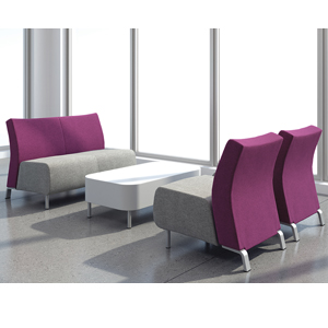 Krug Cressida Lounge seating, soft seating, chair, bench, upholstered, lounge, lobby, collaborate
