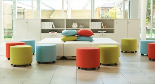 Teknion Collaborative ottoman, lounge seating, upholstered,
