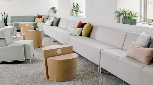 OFS lobby, public, soft seating, lounge, sofa, modular