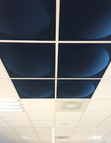 Peter Pepper Ecoround ceiling insert, wall mount, acoustical, open office, accessory