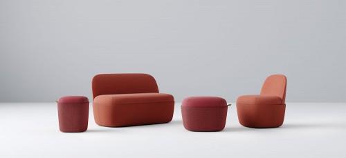 Studio TK Cesto ottoman, lounge seating, collaborate, public