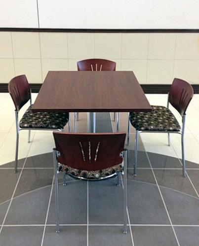 Cafe KI Athens Versa Wood Lunch Break Room Seating Tables
