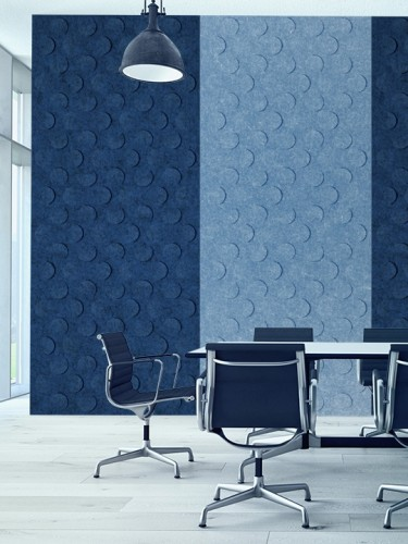 Zintra acoustical wall panel partition, open office