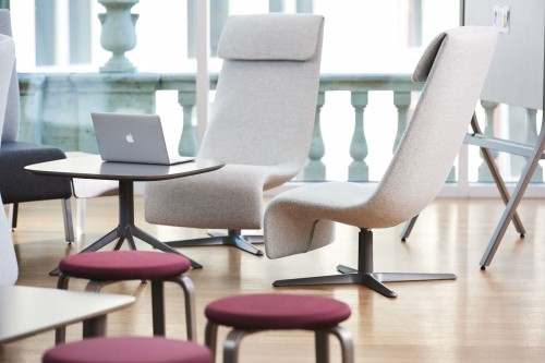 Teknion Zones Solo lounge chair, soft seating, upholstered,