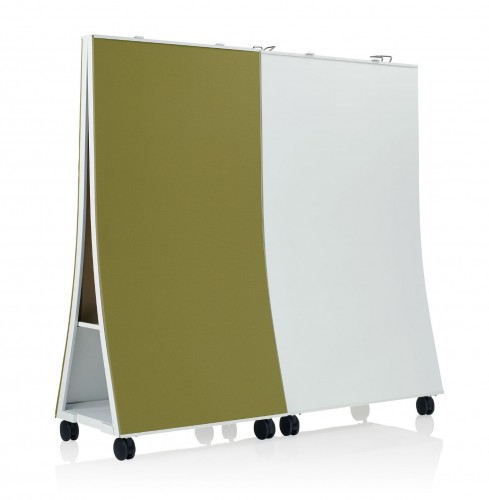KI connection zone screen, whiteboard, tackboard, privacy, collaborate, mobile screen