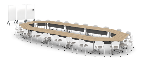 Watson Seven Table Office Conference Business Meeting Collaboration Furniture Nesting Flip Higher Ed Higher Education