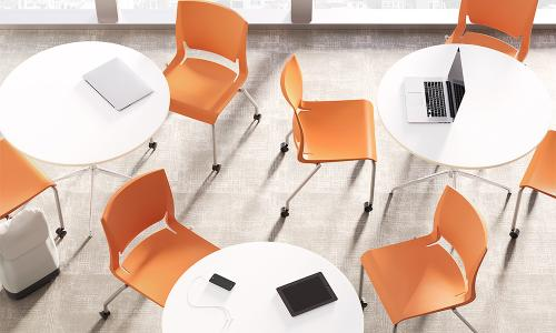 higher education Sit On It Side Chair Seating Guest Waiting Room Conference Classroom Poly Rio