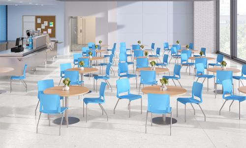 Sit On It Side Chair Seating Guest Waiting Room Conference Classroom Poly Rio