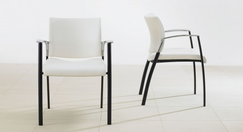 Teknion sitara chair, side guest, seating, upholstered